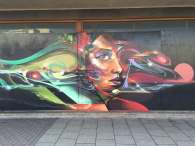 Mr Cenz painting on Katharine Street