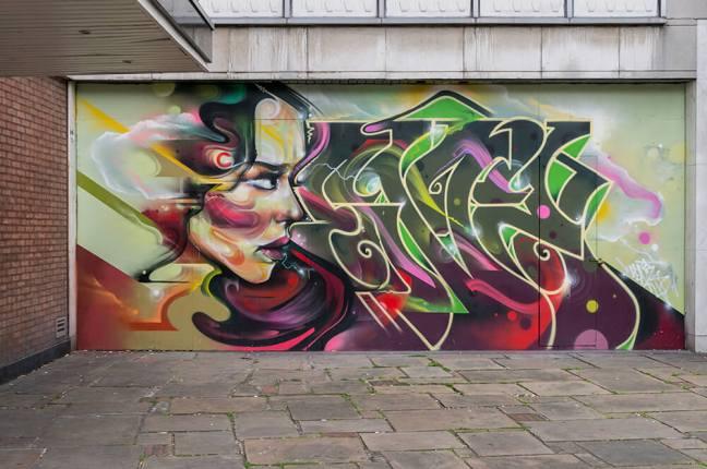 Completed Mr Cenz Katharine Street Mural