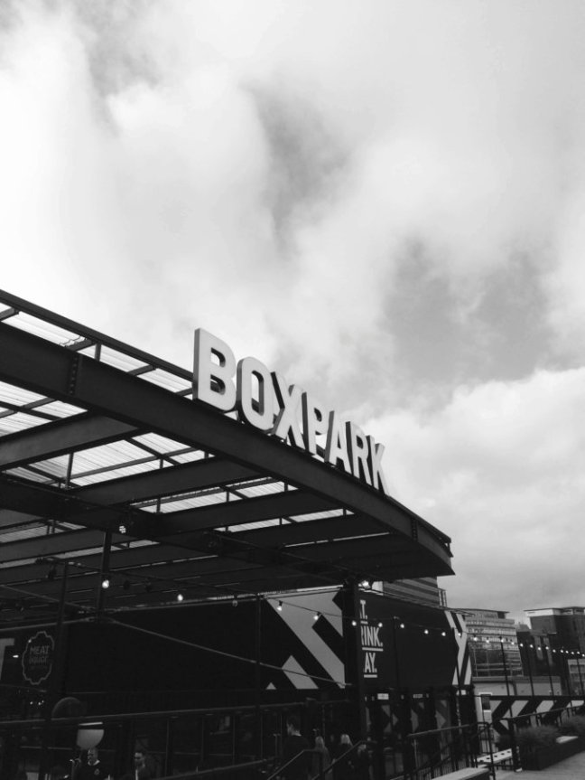 boxpark croydon entrance sign